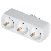 Adaptor Ρεύματος Sonora 3 Θέσεων VPAW300 Λευκός